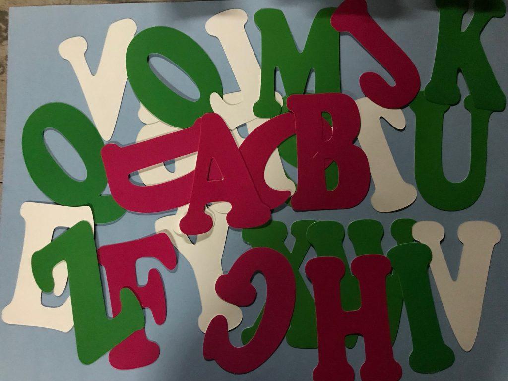molde de letras educación niños ediciones abedul abecedario coqueta plantillas chiquita mediana larga super grande