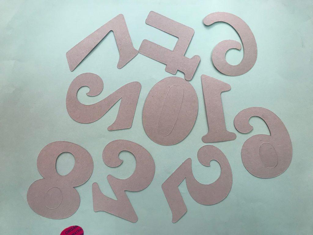Molde de letras plantillas números mediana ediciones abedul