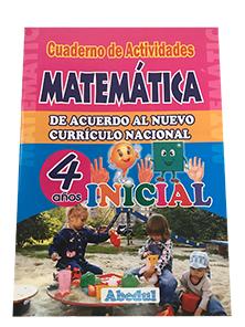 cuaderno de trabajo matemáticas de 4 años 3 4 inicial educación ediciones abedul