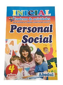 cuaderno de trabajo personal social 4 años 3 4 inicial educación ediciones abedul