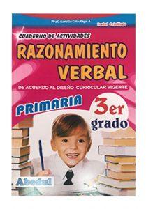 cuaderno de trabajo razonamiento verbal de 1 2 3 4 5 6 grado de educación inicial primaria educación ediciones abedul