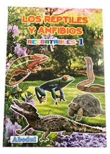 animales domésticos domesticos granja pintar colorear dibujar ediciones abedul recortables reptiles anfibios