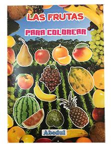 La verduras colorear ediciones abedul pintar dibujar fruta