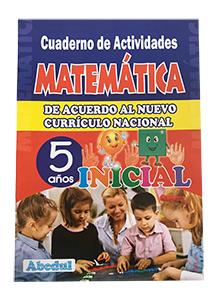 cuaderno de trabajo matemática de 5 años 3 4 inicial educación ediciones abedul
