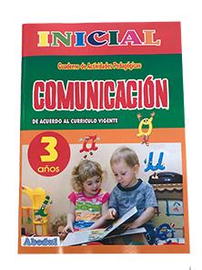 cuaderno de trabajo comunicación comunicacion de 3 años 3 4 5 inicial educación ediciones abedul
